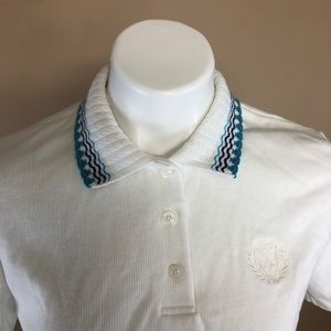 Vintage 80s Ribbed Polo Shirt Small